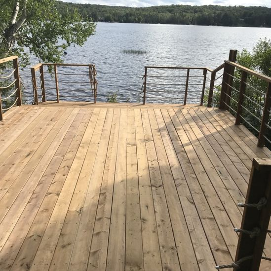 View of a newly constructed deck
